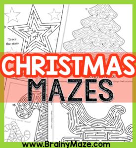 Free Christmas Maze Printables Brainy Maze