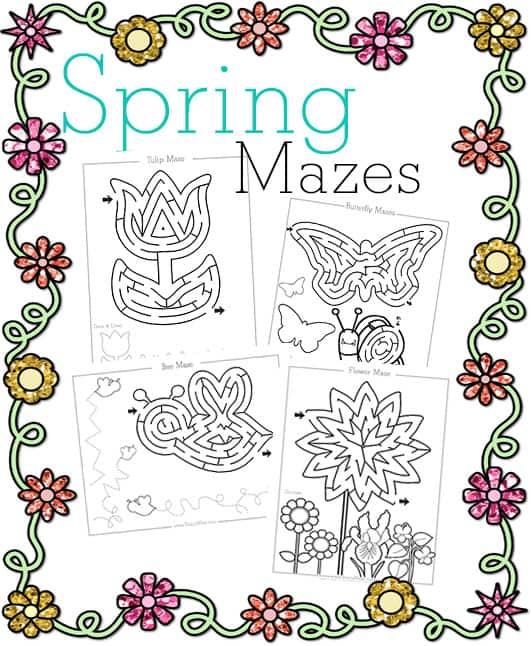Free Spring Mazes for Kids - Brainy Maze