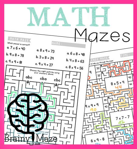 Math Mazes For Kids