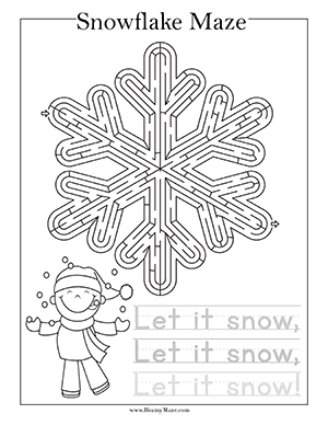 Free Christmas Maze Printables