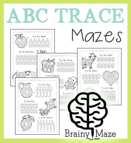 Alphabet Mazes Activity Pages