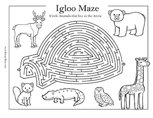 Winter Mazes & Activity Pages - Brainy Maze
