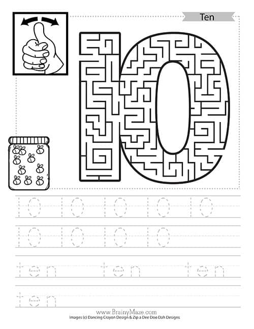 free number mazes