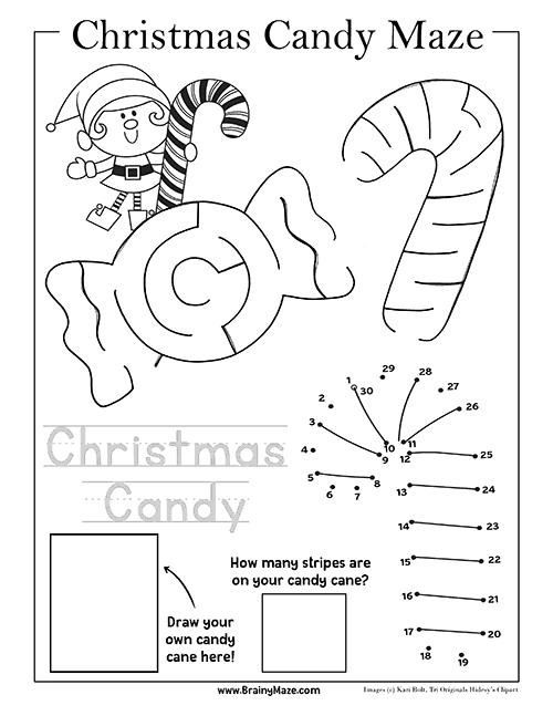 Christmas Mazes.Free Christmas Mazes For Kids Brainymaze Com
