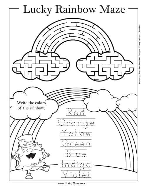St Patrick S Day Mazes Brainy Maze