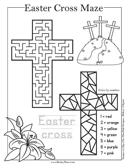 Candid image with easter maze printable